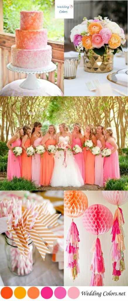 ธีมงานแต่งงาน โทนสีส้ม เหลือง แดงและชมพู