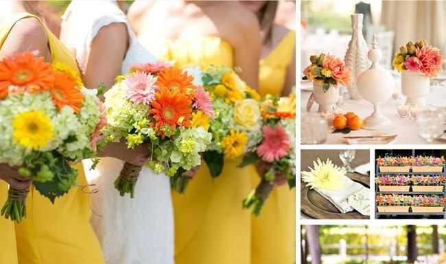 ธีมงานแต่งงาน โทนสีส้ม เหลือง