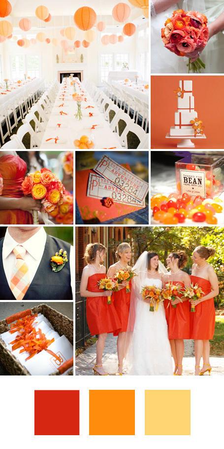 ธีมงานแต่ง สีส้ม สีเหลืองเข้มและสีเหลืองอ่อน