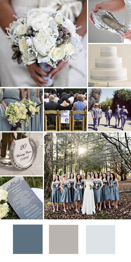 ธีมงานแต่ง สีเงิน สีเทาและสีขาว