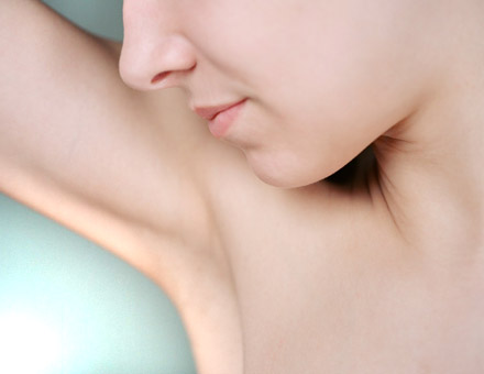 Underarms pit