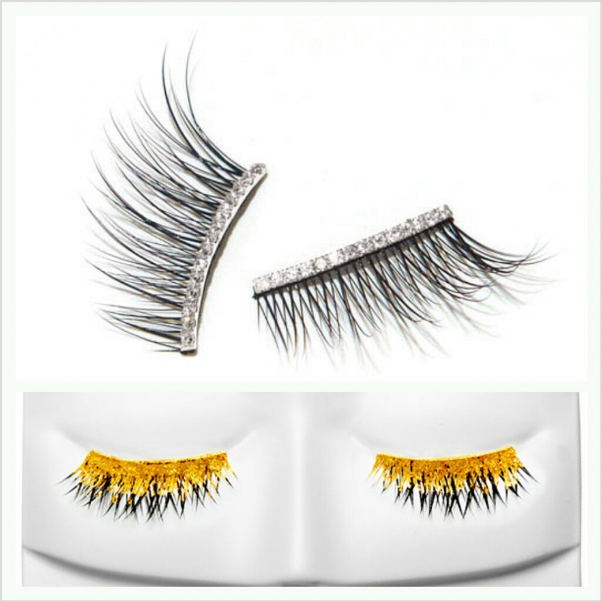 Kre At Beauty Gold and Diamond Eyelashes