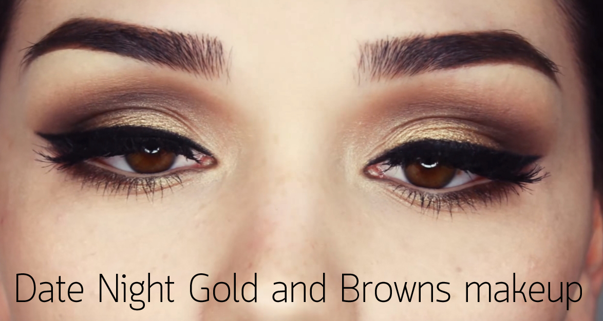 Date Night Gold and Browns makeup HEAD
