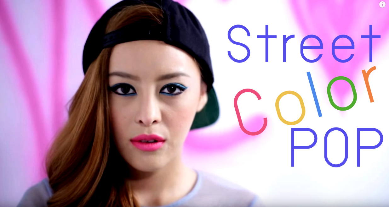 Street Color Pop Makeup Head