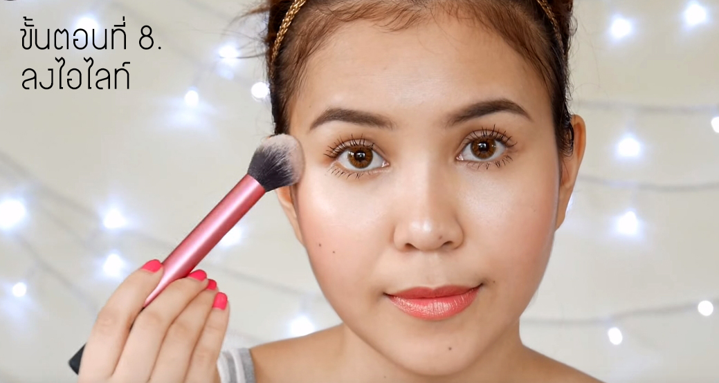 Easy glowing makeup 8