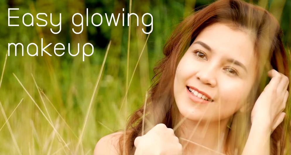 Easy glowing makeup HEAD
